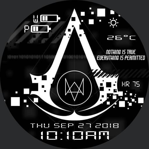 Assassins Creed Watch Dogs For Huawei Watch
