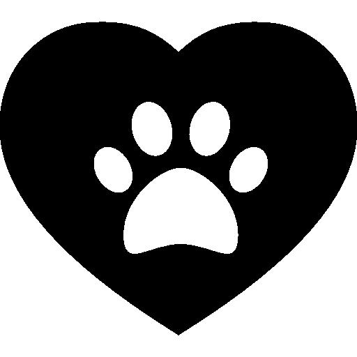 Dog Pawprint On A Heart