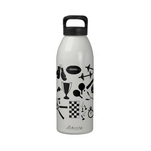Funky Sporty Icon Water Bottle Zazzle Friends