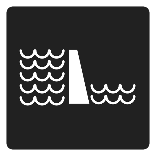 Water Level Square Icon