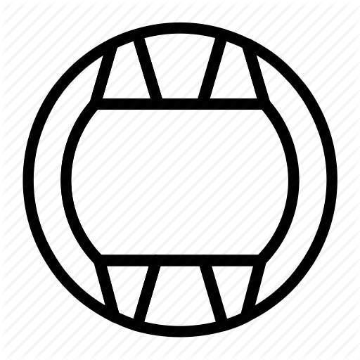 Ball, Outline, Set, Sports, Water Polo Icon