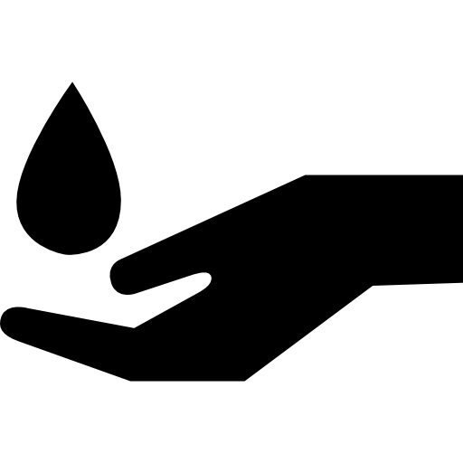 Water Drop Falling On A Hand Icons Free Download