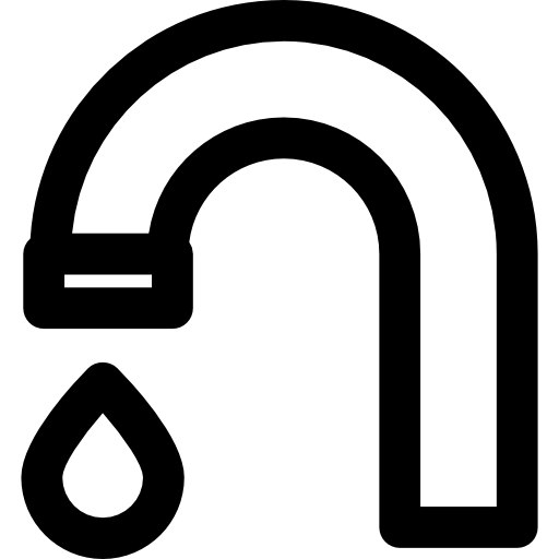 Drop Water Falling From A Tap Icons Free Download