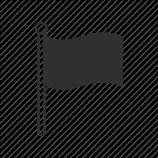 Black Flag, Flag, Flagpole, Golf, Group, Nation, Waving Flag Icon