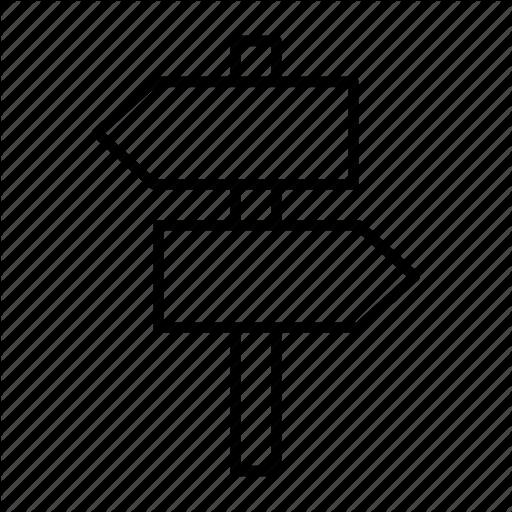Arrow, Direction, Information, Post, Wayfinding Icon