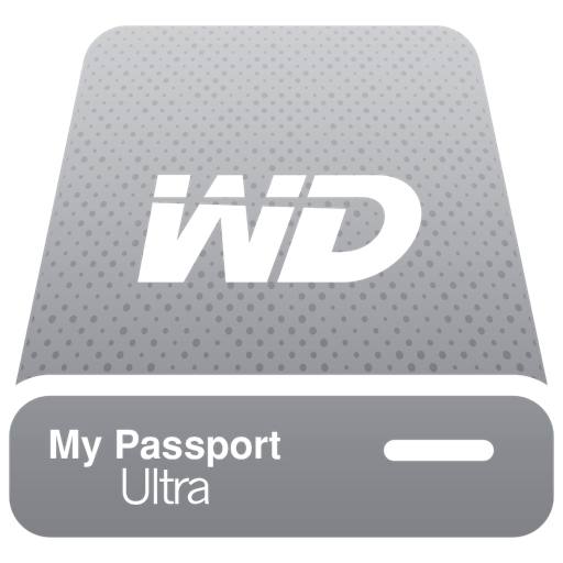 Hdd Wd My Passport Ultra Silver Pngicoicns Free Icon Download