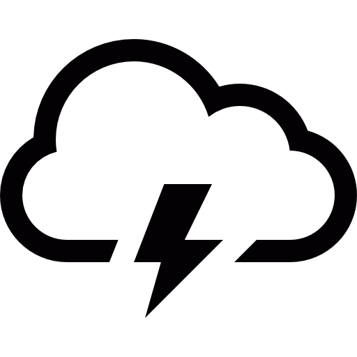 Storm Cloud Free Weather Icons Logo Image