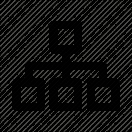 Hierarchy, Organigram, Sitemap, Structure, Web Icon