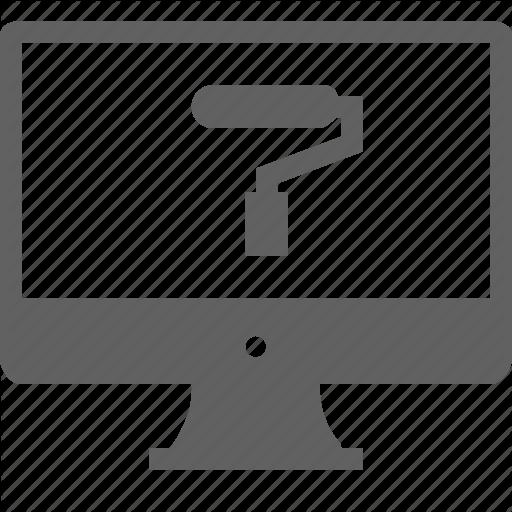 Monitor, Service, Webdesign Icon