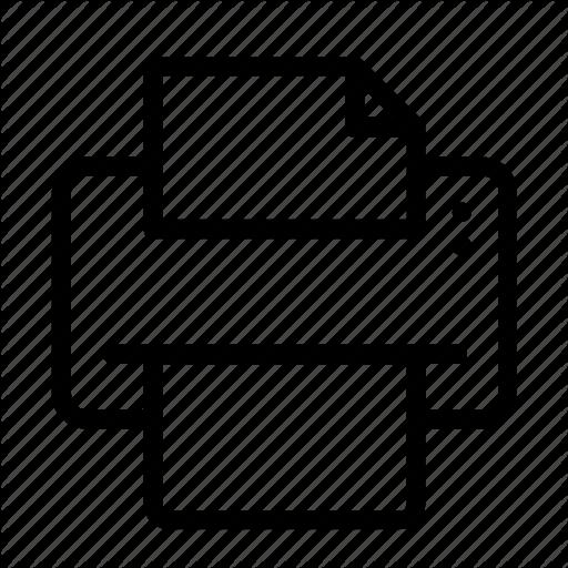 Icon, Isolated, Printer, Vector Icon