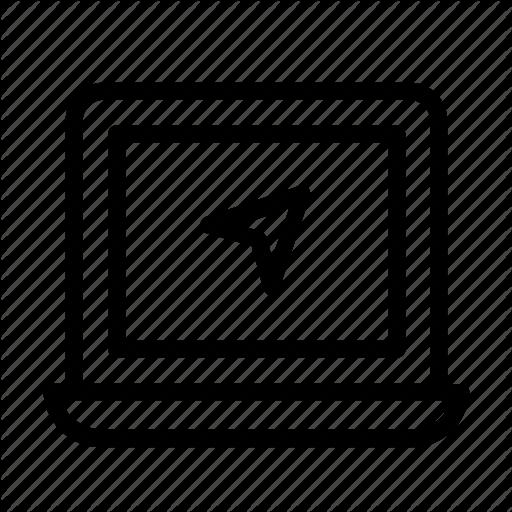 Cursor, Internet, Laptop, Vector Icon