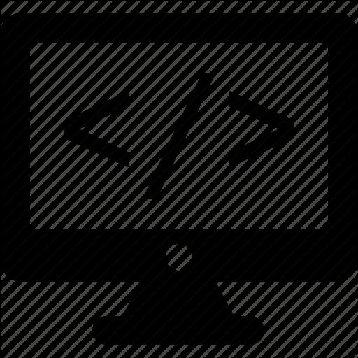 Coding, Div, Html, Monitor, Web Development Icon