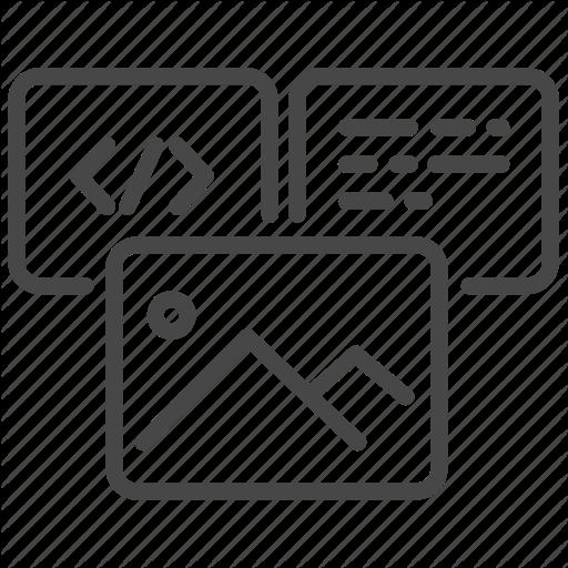 Code, Content, Design, Development, Element, Photo, Web Icon