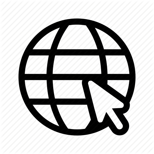 Cursor, Globe, Mouse, Web, Icon