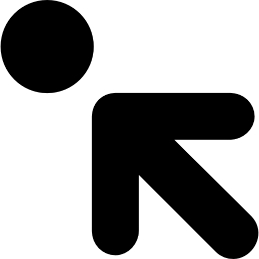 Upper Left, Interface, Pointing, Dot, Arrow, Arrows, Interface