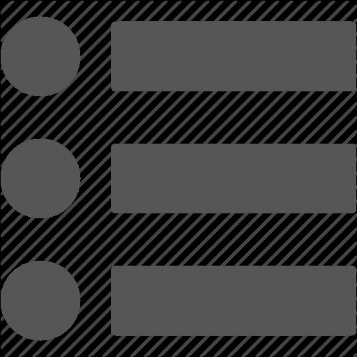 List, Menus, Options Icon