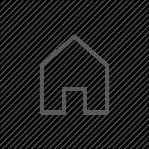 Computer, Home, House, Line Icon, Main, Web Site Icon