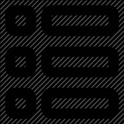 Grid, List, Menu, Navigation, Option, View, Web Icon