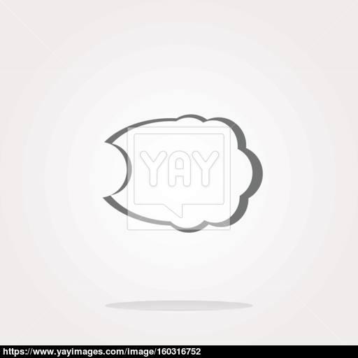 Comic Speech Bubble Sign Icon Chat Think Symbol Circle Flat