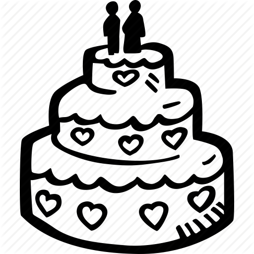 Cake, Engagement, Heart, Love, Mariage, Wedding, Wedding Cake Icon