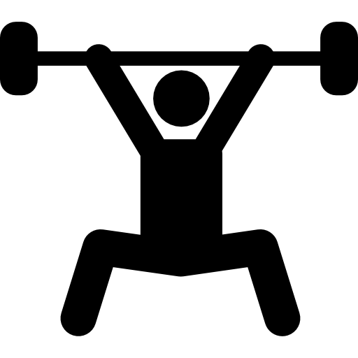 Weightlifting Silhouette, Power Sport Icons Free Download