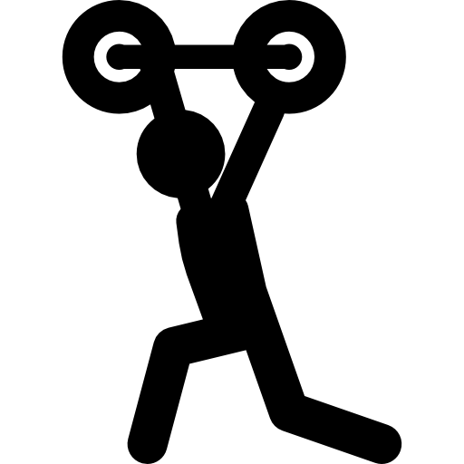 Weightlifting Silhouette Icons Free Download