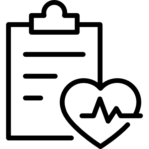 Gym Control Of Exercises With A List On A Clipboard And Heart