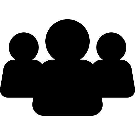 Users Group Black Silhouette