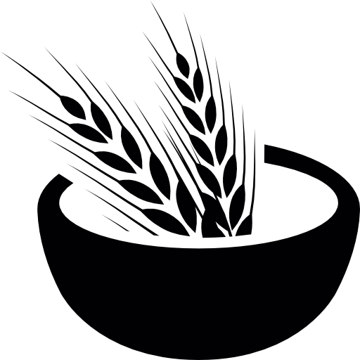 Wheat Grains On A Bowl Icons Free Download