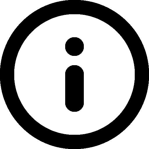 Information Circular Button Symbol Icons Free Download