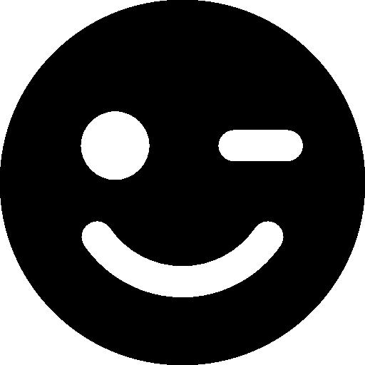 Wink Circular Face Symbol Icons Free Download