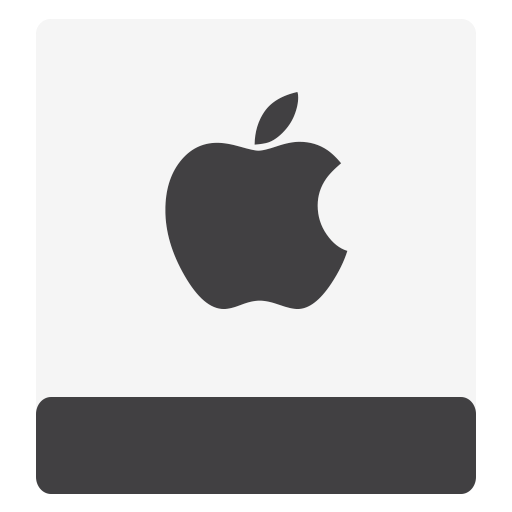Hdd, Hfs, White, Apple Icon Free Of Minimalism Icons