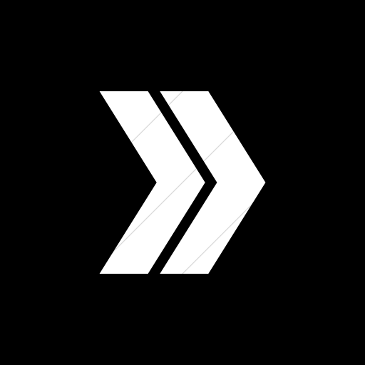 Flat Square White On Black Classic Arrows Double
