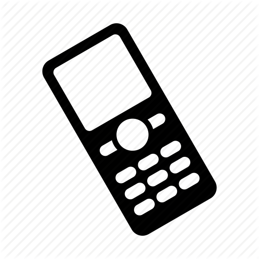 Cell Phone Icon Png Black Vector, Clipart