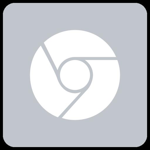 White Google Chrome Icon