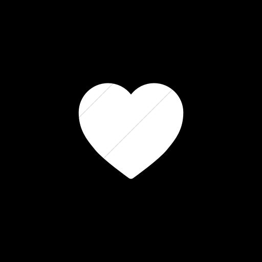 Flat Circle White On Black Foundation Heart Icon