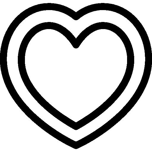 White Heart Inside Black Heart