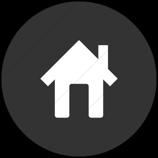 Flat Circle White On Dark Gray Broccolidry House Icon