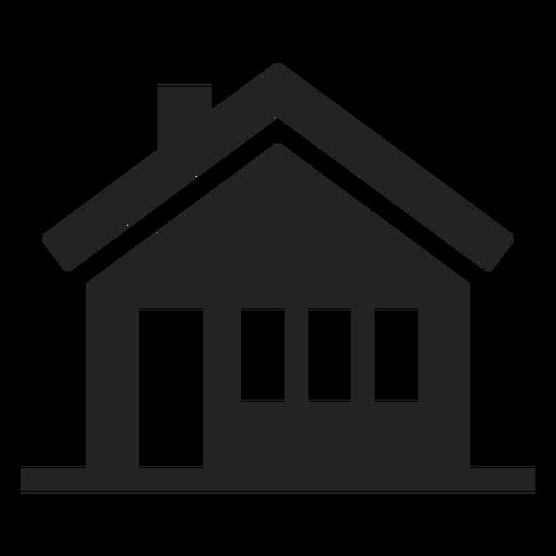 Black And White House Icon