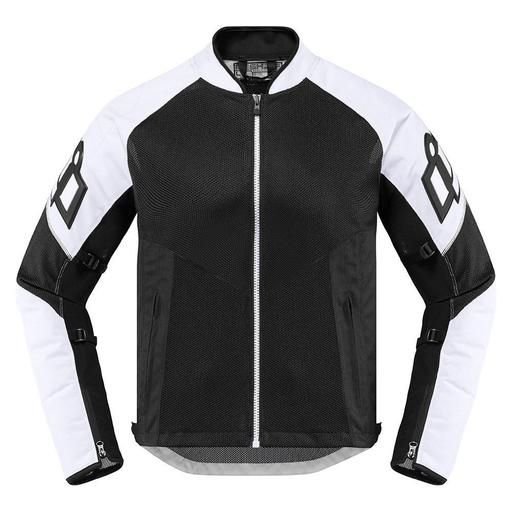 White Icon Motorcycle Jacket