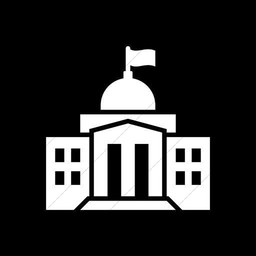 Flat Rounded Square White On Black Iconathon Federal