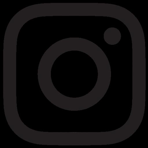 Black White Instagram Logo Transparent Icon
