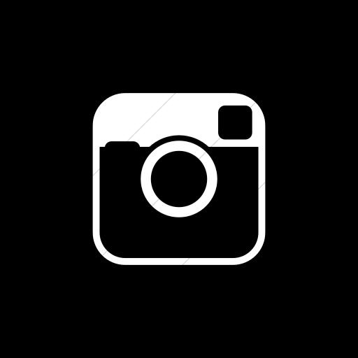 Flat Circle White On Black Raphael Instagram Icon