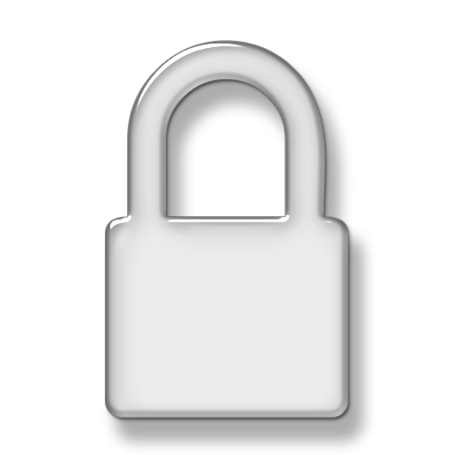 White Lock Icon Png
