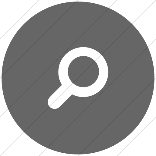 Flat Circle White On Gray Foundation Magnifying Glass