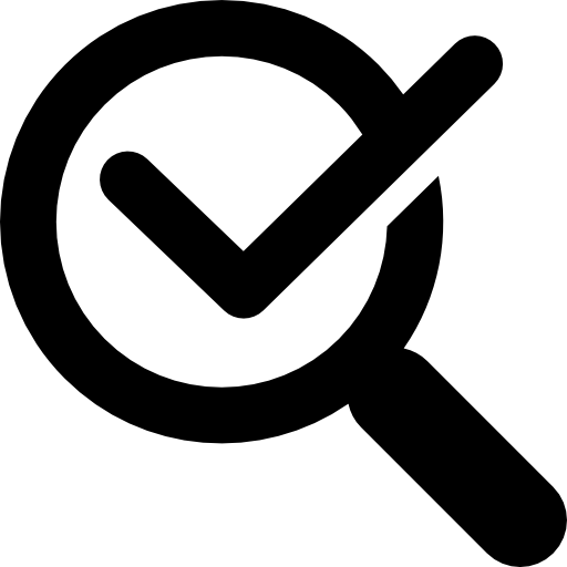 Magnifying Glass With Check Mark Icons Free Download