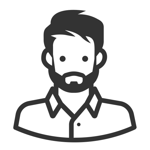 Glyph Avatar White Man Beard, Beard, Hat Icon Png And Vector