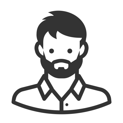 Glyph Avatar White Man Beard Manly, Beard, Man Icon Png And Vector