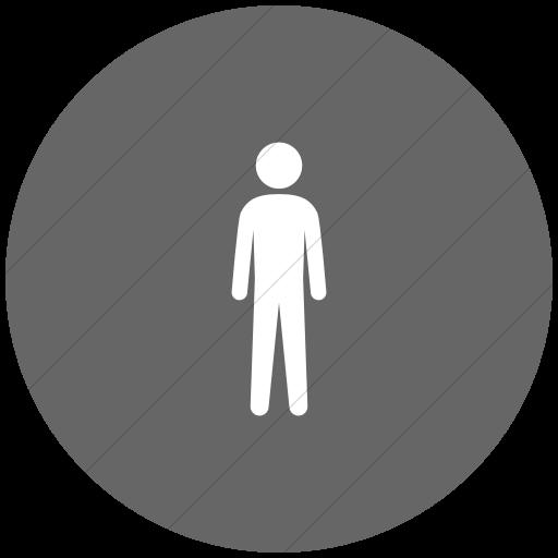 Flat Circle White On Gray Ocha Humanitarians People Man