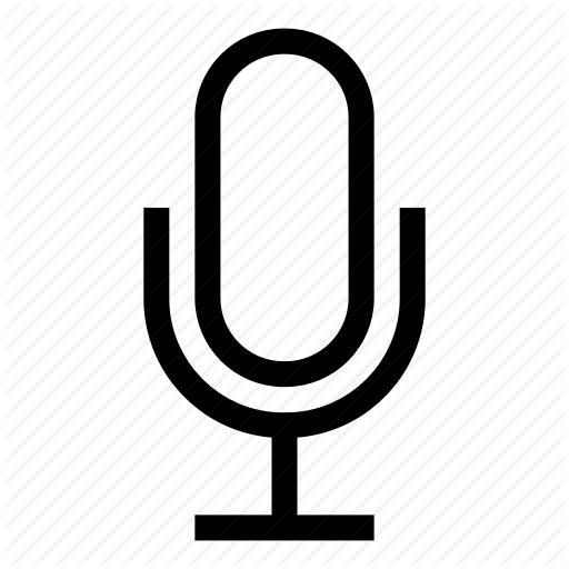 White Microphone Icon